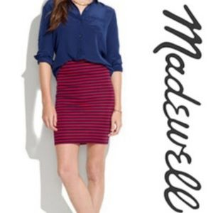 Madewell Striped Downtown Skirt.    (D30)